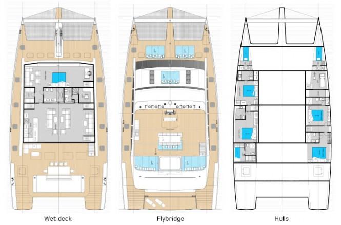 Sunreef 92 DD Yacht - Layout