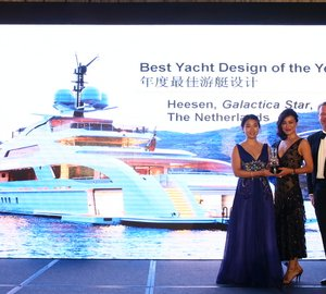 Heesen superyacht GALACTICA STAR awarded 'Best Design of the Year' at Asia Boating Awards 2014