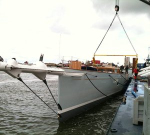 Newly launched Royal Huisman sailing yacht Project 392 to feature complete set of Doyle Stratis Sails