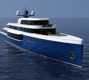 New 73m motor yacht Project SAPPHIRE by Tim Gilding Marine Design