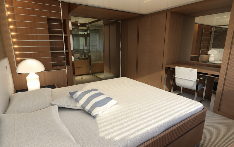 88 Miami superyacht - Owners Cabin