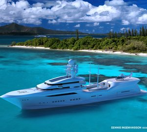 Impressive 90m mega yacht ARCTIC SUN concept by Dennis Ingemansson