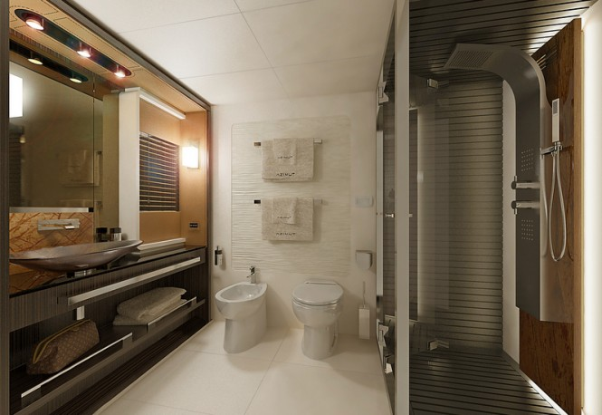 Azimut 77S Yacht - Owners Bathroom