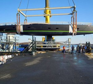 Photos from launch of Baltic 108 sailing yacht WinWin