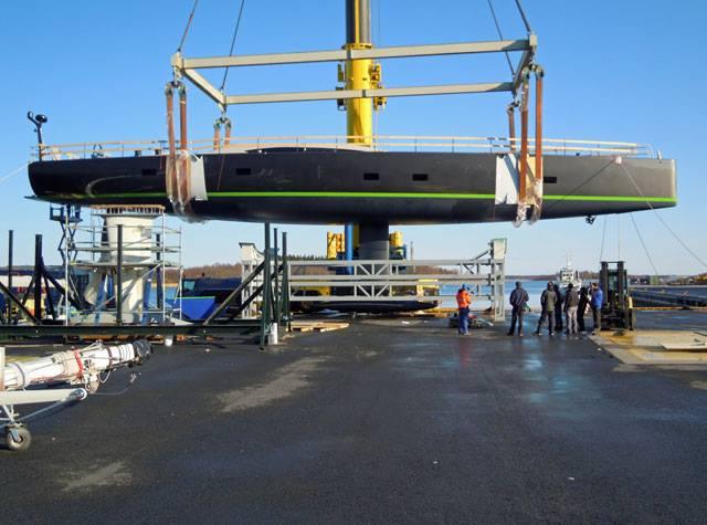 Baltic 108 superyacht WinWin at launch