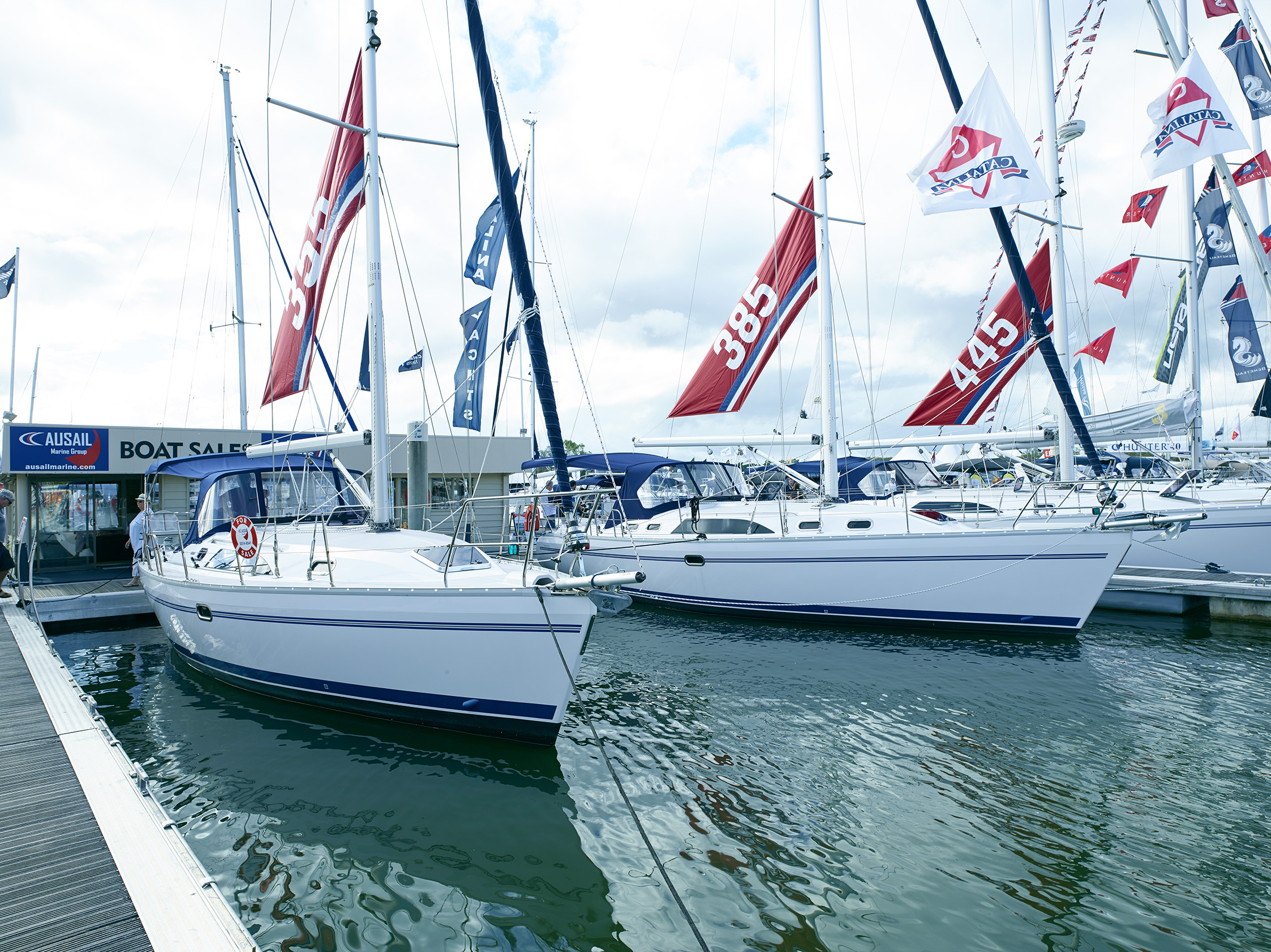 Boats lined up for SCIBS day one