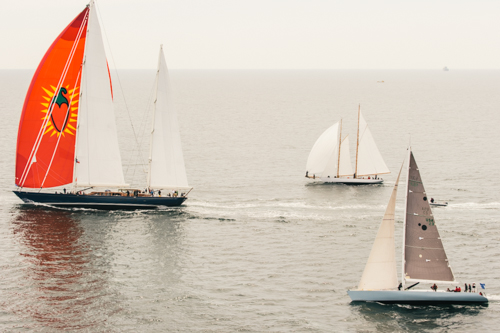 Classic superyachts participating in the 2014 Pendennis Cup