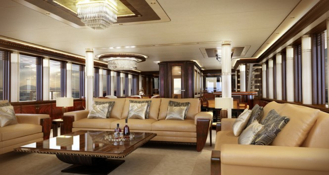 Expedition yacht Z164 - Saloon