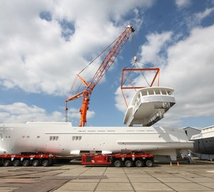 Hull and superstructure of Wim van der Valk's 37M Trawler 37.00 Yacht joined together