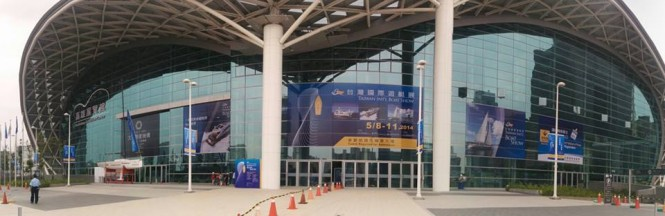Kaohsiung Exhibition Center hosting the 2014 Taiwan International Boat Show