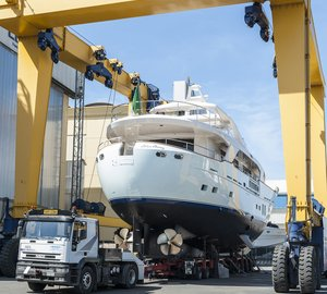 Photos from launch of new Benetti Sail Division BLUE BERRY Yacht