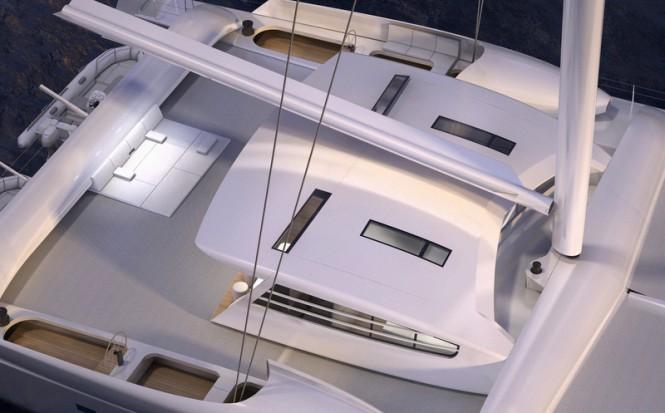 Luxury sailing yacht Vitalia II (ex Orange II) from above