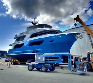 Northern Marine on launch of 90' motor yacht 'Bäden' (ex Blood Baron, hull 8501)