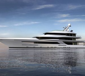 New 70m motor yacht designed by Bannenberg & Rowell under construction at Feadship