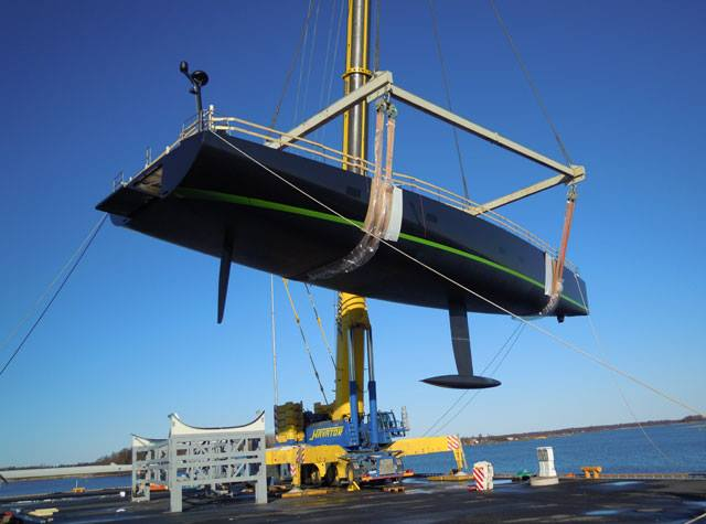 Sailing yacht WinWin ready to be launched