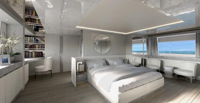 Sanlorenzo luxury yacht SD126 - Owner's cabin