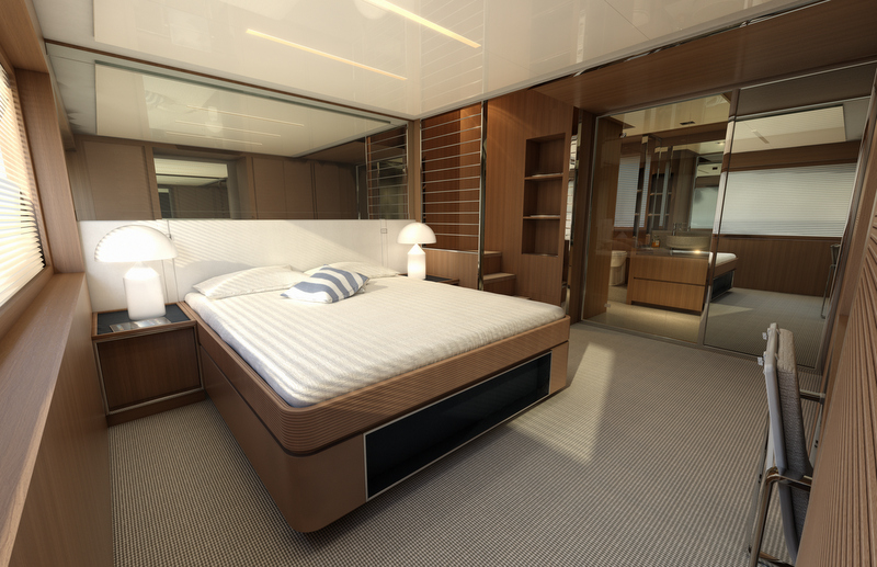 Superyacht Riva 88 Miami - Owners Cabin