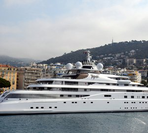 147m Lurssen motor yacht TOPAZ in Brazil for the Football FIFA World Cup 2014
