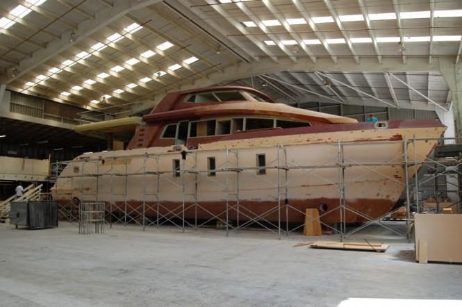 24m Jutson Exploration HeliCat Yacht under construction