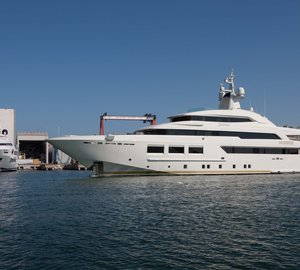 61m CRN 133 SARAMOUR yacht leaves CRN shipyard in Ancona