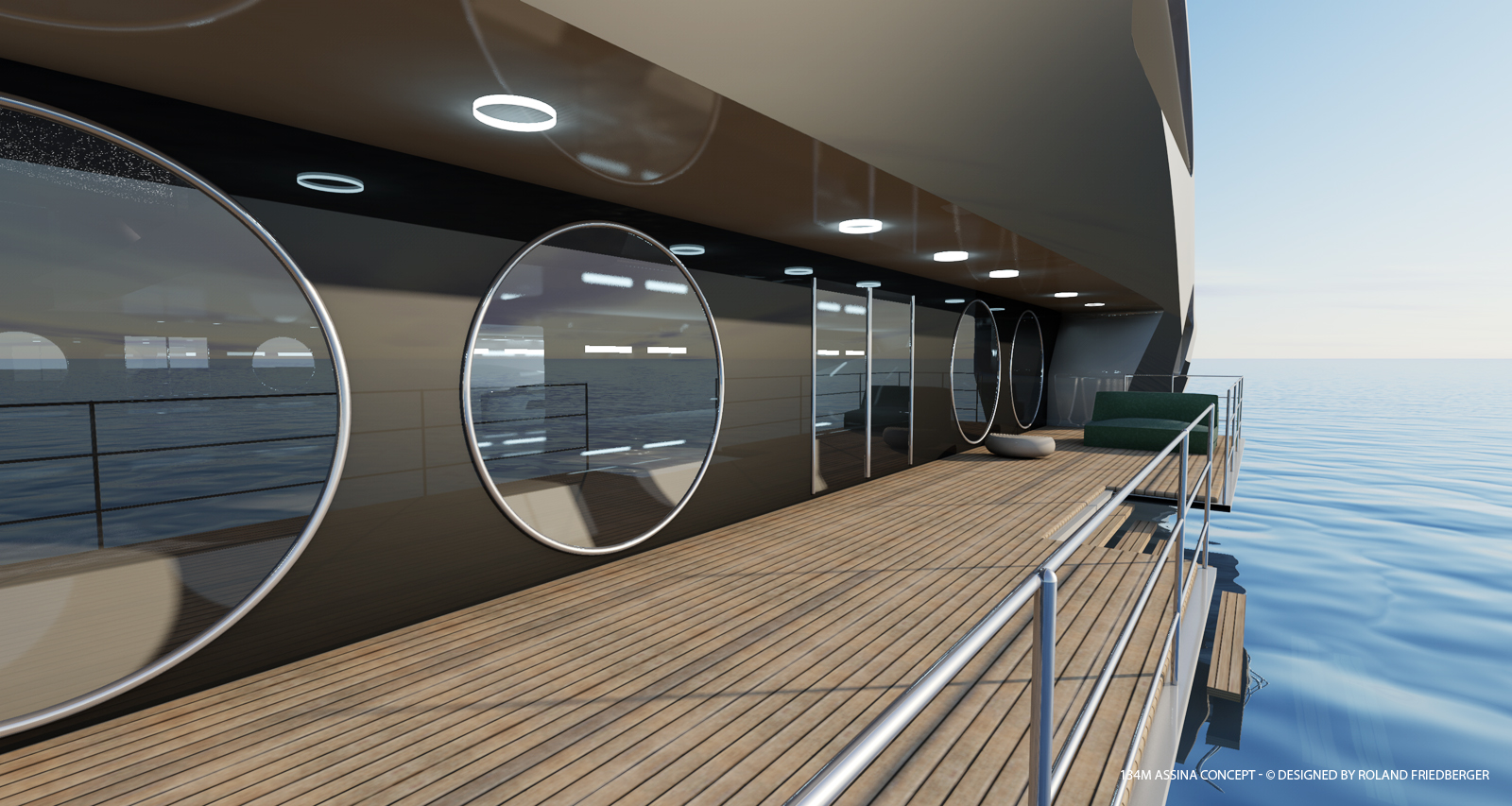 Aboard Assina superyacht concept
