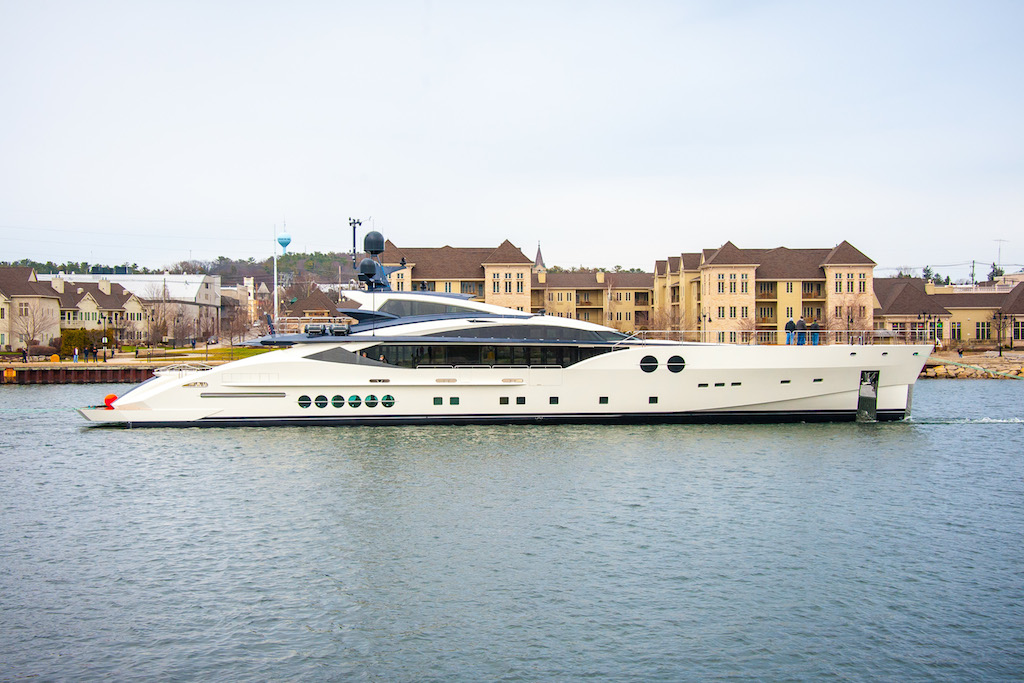 Designed by Nuvolari Lenard, Palmer Johnson-built superyacht BLISS , PJ170-2