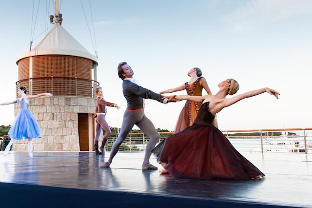 Eleonora Abbagnato, Prima Ballerina of the Paris Opera Ballet delights guests of this evening's dinner Mark Sims | Superyacht Media