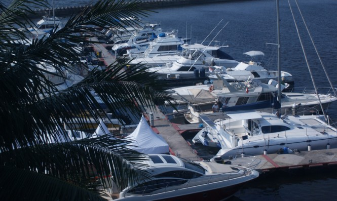 Indonesia Yacht Show 2014 from above