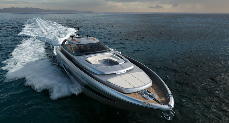 Luxury yacht Riva 88 Florida - front view
