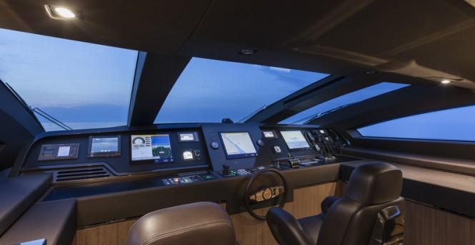 Mythos Yacht - Wheelhouse - Photo by Alberto Cocchi