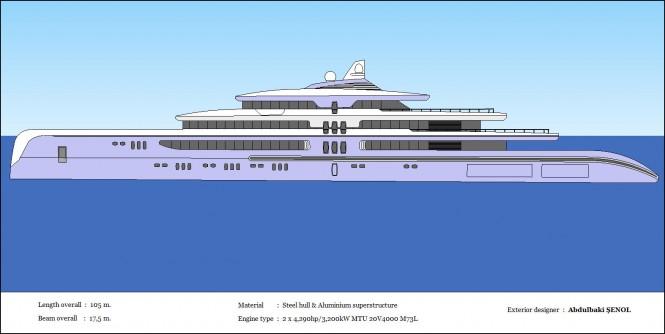 New 105m superyacht concept by Abdulbaki Senol