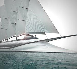 Renderings of the new 133m mega yacht PHOENICIA II concept by Igor Lobanov