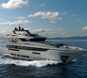 New 43m motor yacht Project M43 by Mondo Marine and Hot Lab