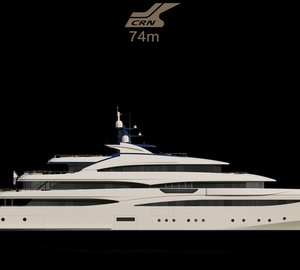 New 74m motor yacht CRN 131 under construction at CRN Shipyard