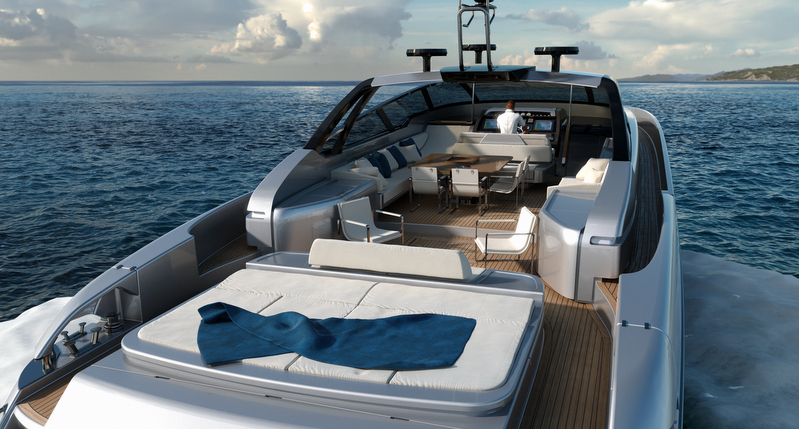 Riva 88 Florida superyacht - aft view
