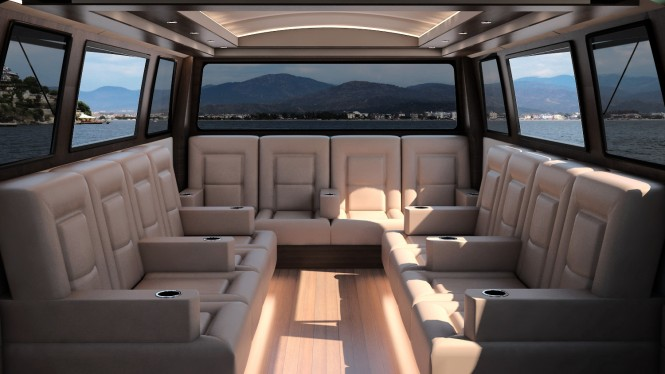 SWATH Electra Glide Limousine Tender - Interior