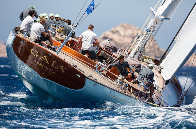 Spirit Yachts' classically styled Gaia revelled in the conditions and the course presented on day one of racing Jeff Brown | Superyacht Media