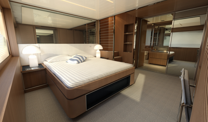 Superyacht Riva 88 Florida - Owners Cabin