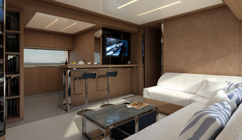 Superyacht Riva 88 Miami - Salon