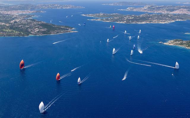 The fleet enjoy fantastic conditions on day one of the Loro Piana Superyacht Regatta Carlo Borlenghi | Borlenghi Studio