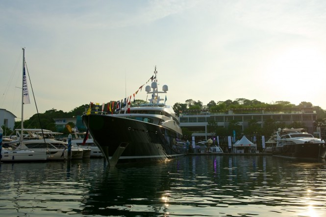 Yachts on display at Singapore Yacht Show 2014
