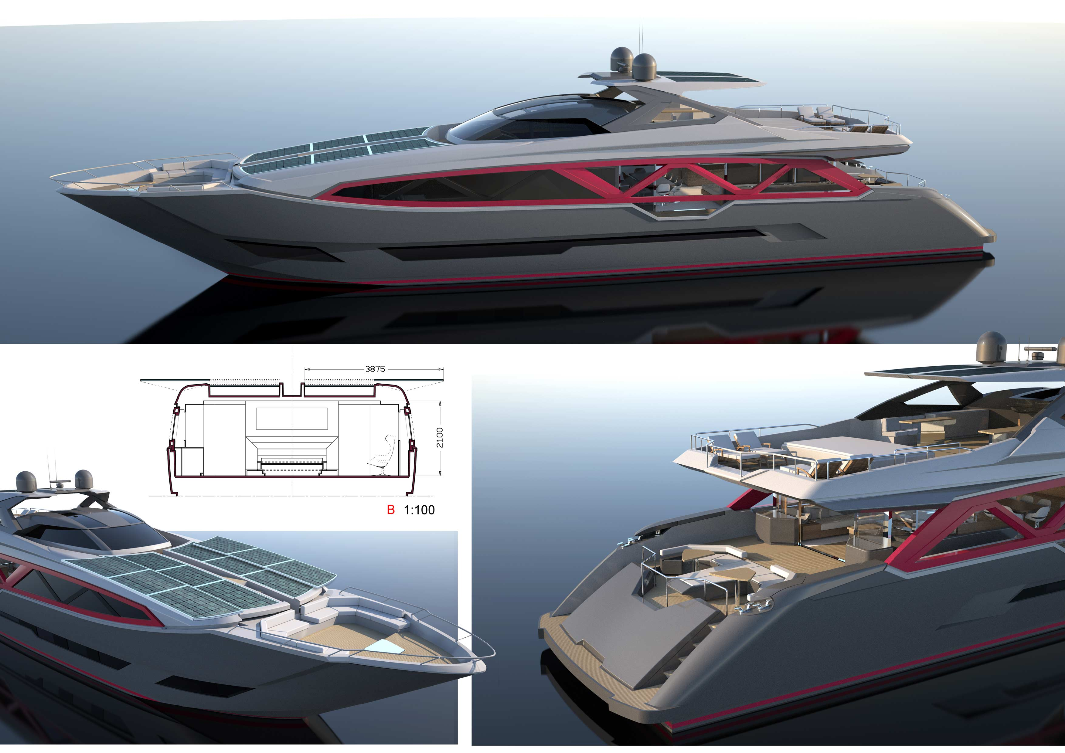 35m A-Sign luxury yacht concept