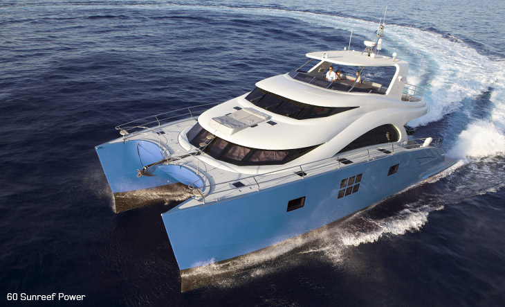 60 Sunreef Power Yacht Blue Belly
