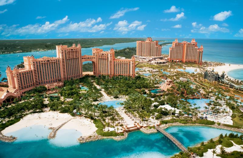 Atlantis Resort and marina in the fabulous Caribbean yacht charter destination - the Bahamas