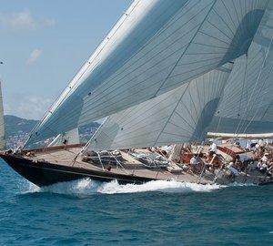 Photos of Dykstra-refitted sailing yacht Shamrock V at Argentario Sailing Week 2014