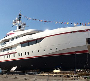 Launch of 54m ISA motor yacht FOREVER ONE designed by Horacio Bozzo