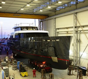 Photos and video from launch of Logica 147/01 motor yacht 'My Logica'