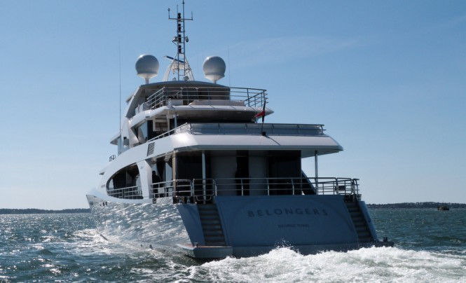 Luxury yacht Belongers - aft view