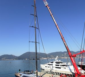 Perini Navi completes mast stepping of 60m sailing yacht PERSEUS³
