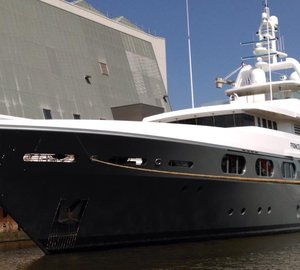Newly refitted motor yacht PRINCESS TOO re-launched by ICON Yachts